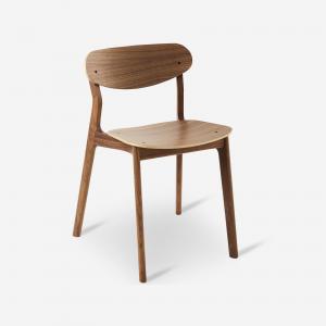 duurzame stoel, walnoten hout